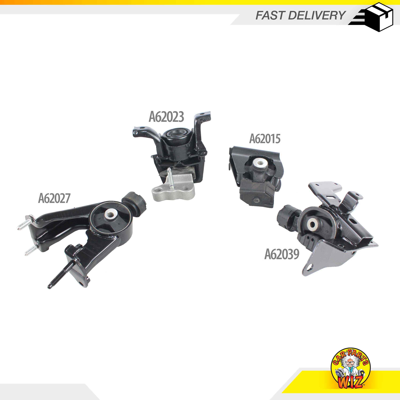 New Engine Motor /& Trans Mount Kit 4PCS Fits 04-09 Mazda 3 2.0L L4 DOHC 16v