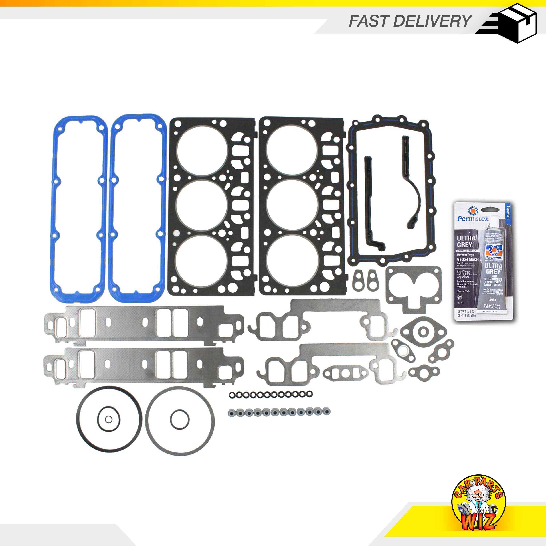 Engine Full Gasket Set Bearing Rings Fits 87-89 Dodge B150 B250 3.9L V6 OHV 12v