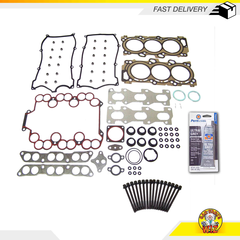 Head Gasket Set Bolt Kit Fits 07-15 Nissan Altima 3.5L V6 DOHC 24v VQ35DE